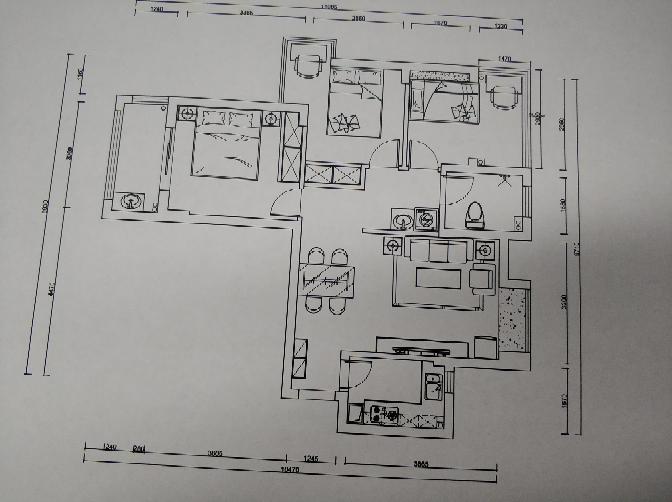 88.00㎡ 三室二厅一厨一卫 古代繁复