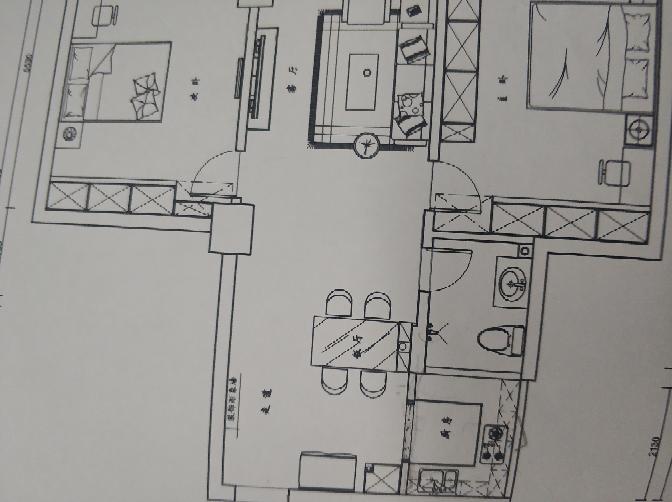 70.00㎡ 二室一厅一厨一卫 其余