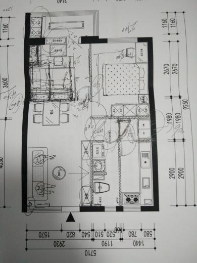 56.00㎡ 二室一厅一厨一卫 现代简约