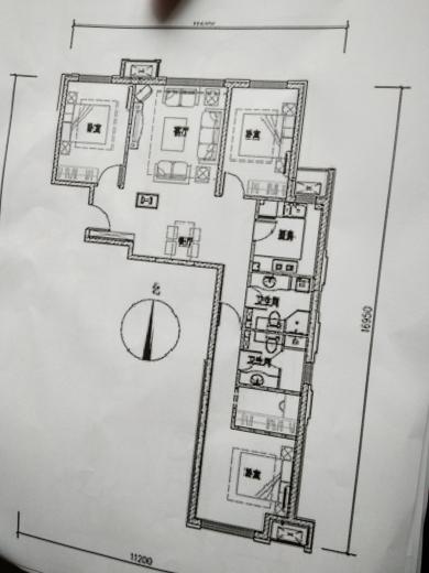 60平 二室一厅一厨一卫