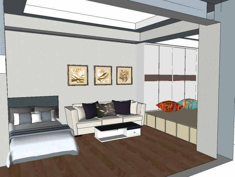 54平 一室一厅一厨一卫