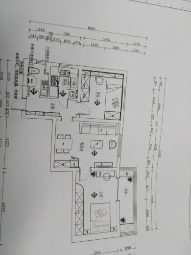 76平 二室一厅一厨一卫