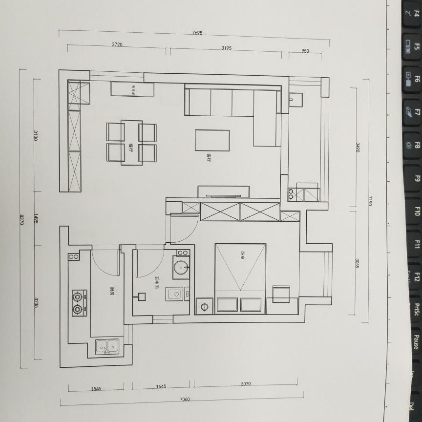 65.00㎡ 一室二厅一厨一卫 现代简约