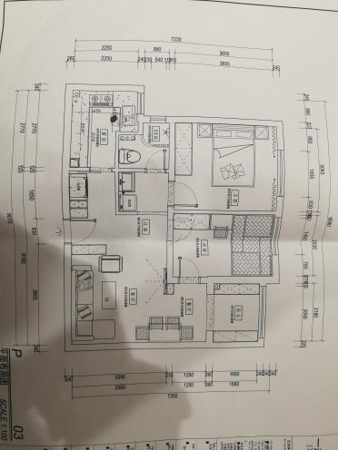 76.00㎡ 二室一厅一厨一卫 现代简约