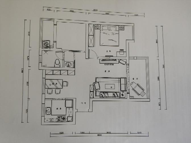 85.00㎡ 二室二廳一廚一衛 現代簡約