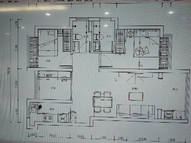 88.00㎡ 三室二厅一厨一卫 现代简约
